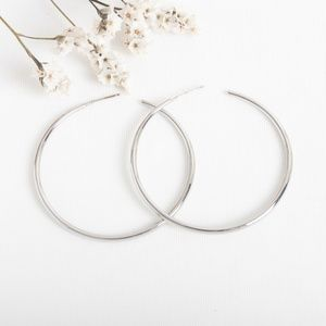 Alicia Bonnie silver tone statement hoop earrings